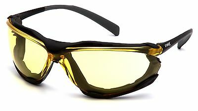 Pyramex Proximity Yellow Anti Fog Foam Padded Safety Glasses Night Driving Z87+