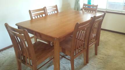 Rubberwood Dining Suite 6 seater - sold pending pick up Windella Maitland Area Preview