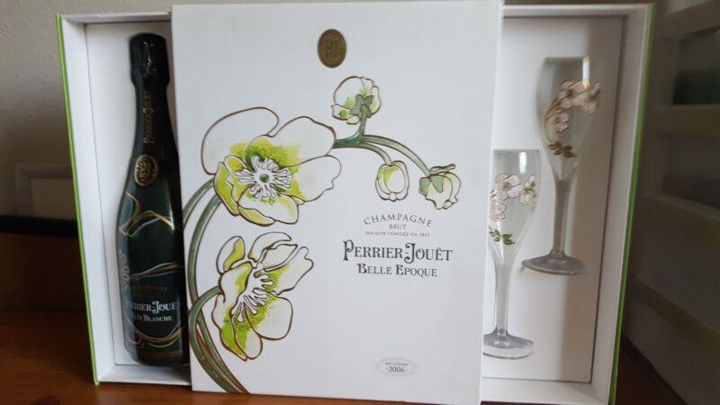 Champagne Brut Perrier ~Jouet Empty Bottle 2 Wine Glasses Display Dummy Sealed