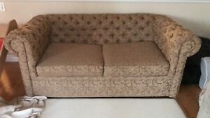Tufted brown sofa/couch