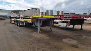 45ft drop deck and dolly for hire. Roadtrain B double. Mannum Mid Murray Preview