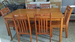 Dinning and 6 chairs Murrumba Downs Pine Rivers Area Preview
