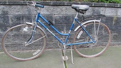 Vintage Original 1970's Schwinn Suburban Super Sport Women's Ladies Blue Bike   for sale  Shipping to India