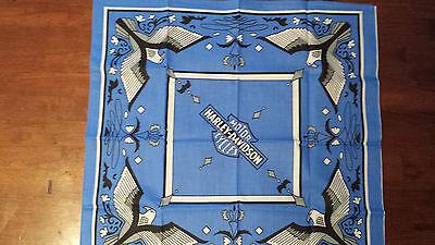 VINTAGE NOS BLUE EAGLE HARLEY DAVIDSON  BANDANA