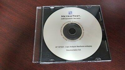 Hp 16702a Logic Analyzer Documentation Set On Cd