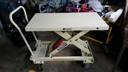 Mobile self levelling work table 400kgs capacity Kilsyth Yarra Ranges Preview