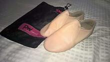 Size 2 Tan Leather Jazz shoes. PW Dance brand