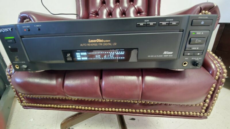 Sony MDP-600 LaserDisc Video CD Player TESTED AUTO REVERSE Read Description