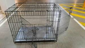 Crate for Puppy Dog Training With Two Gates