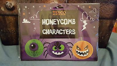 Halloween Tesco's Honeycomb Character Decorations free UK p&p  (Tescos Halloween)