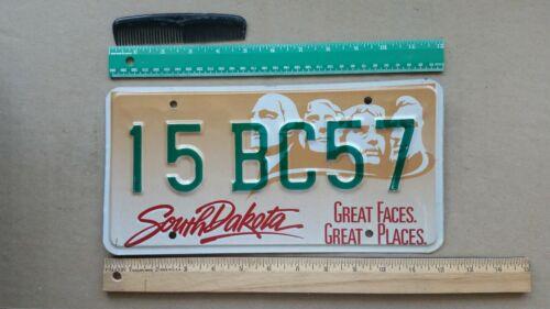 License Plate, South Dakota, Geo, Tom, Teddy, Abe, 15 BC 57