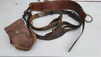 Vintage Klein-buhrke Linesman Safety Belt Bell Systems E-right Sz 24 Mfg 4-70