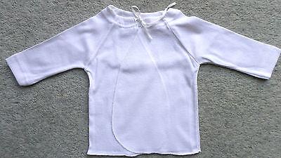 5er Pack Baby-Flügel Hemdchen Bindehemden 1/1Arm Baumwolle Weiß Gr.62/68 NEU OVP