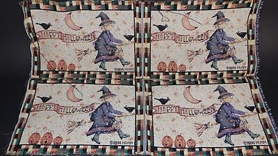 Happy Halloween Debbie Mumm 4 Project Panel Unfinished Tapestry Craft - Halloween 4 Panel
