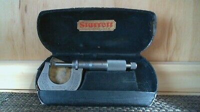 Starrett 1 Inch Micrometer No 1230 Carbide Tips Stainless Steel 1 Ball Tip
