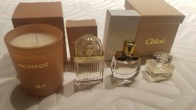 Chloe nomade,Love Story,chloe Mini Perfume EDP 0.25 & 0.17 oz & nomade candle