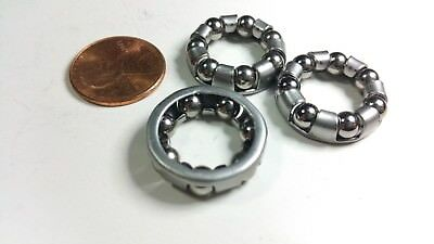 (3 bicycle ball bearing caged 7 ball for front hub axle nutted or QR Shimano )