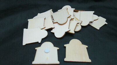 Scrapbooking 24 Unfinished  Halloween Wood Stickers - Tombstone](Wood Tombstone Halloween)