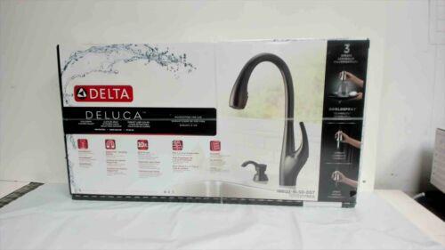 Delta Deluca Pull-Down Kitchen Faucet - Matte Black Finish - 19912Z-BLSD-DST