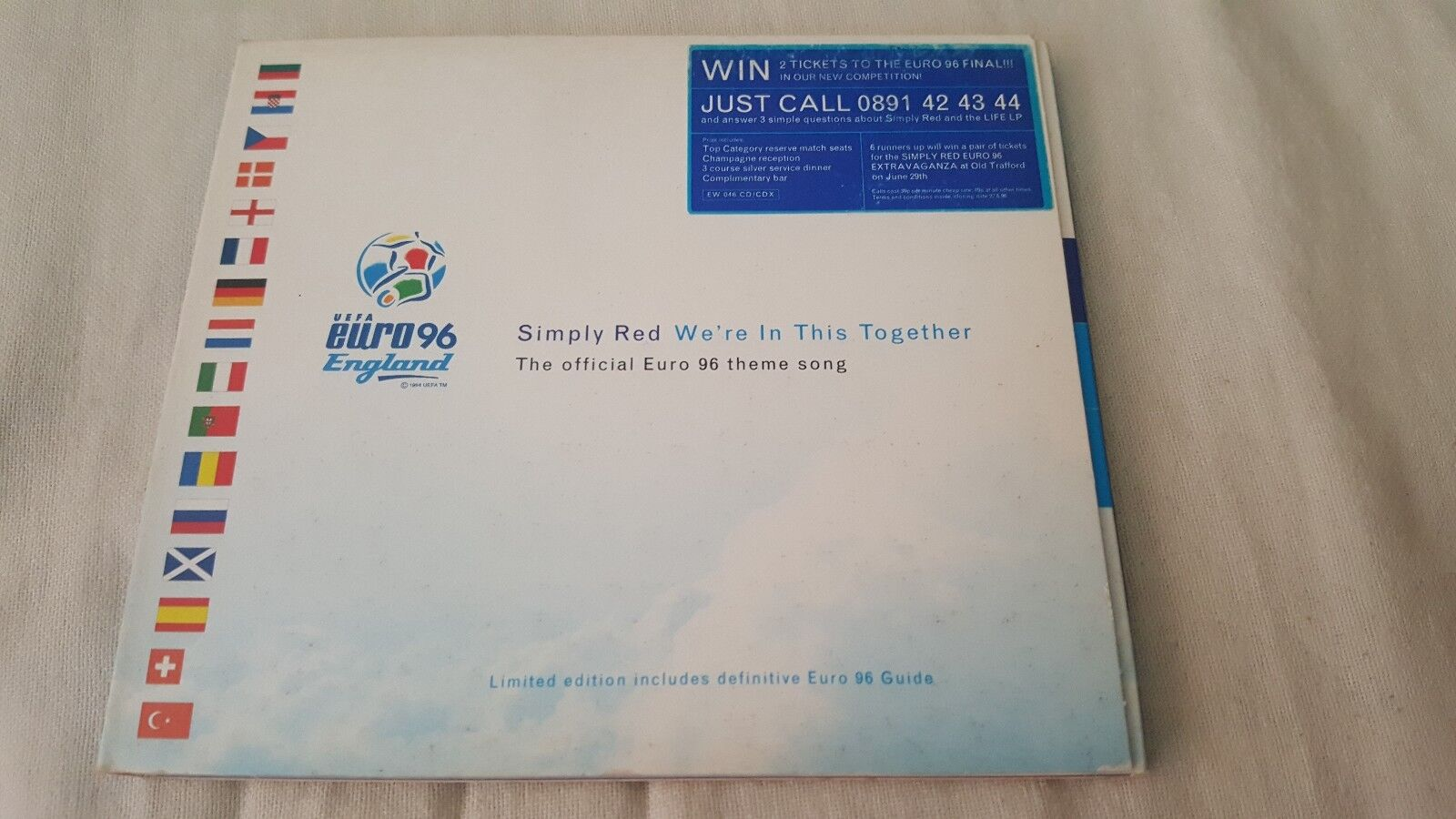 SIMPLY RED WE'RE IN THIS TOGETHER CD SINGLE INC LIVE TRACKS EURO 96 WORLD CUP