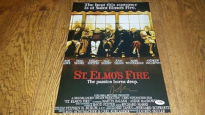 Rob Lowe Signed St Elmos Fire 12X18 Poster Photo Psa Dna Coaautographed