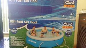 10 ft fast set pool from Clark rubber Nudgee Brisbane North East Preview