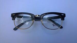 e612872b26 Ray Ban RX 5154 2000 Clubmaster Eyeglass Frames Black Gold 49 mm