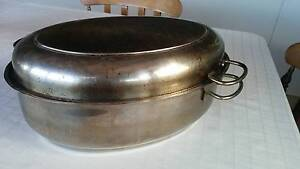 Oval stainless steel baking dish with lid Sandy Bay Hobart City Preview