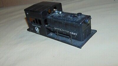 LIONEL O GAUGE 41 UNITED STATES ARMY SWITCHER SHELL ONLY....