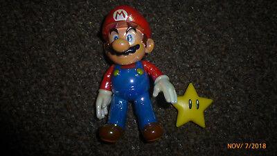 "Jakks World of Nintendo 4"" Super Mario Figure Star Power Mario Complete"