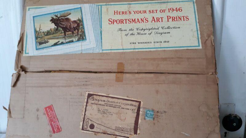 Vintage SEAGRAM Distillery Corp Whiskey Sportsman