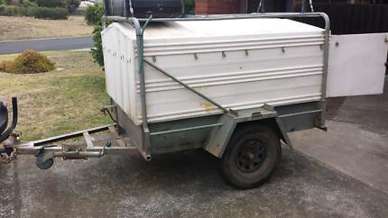 6x4 heavy duty box trailer must go!