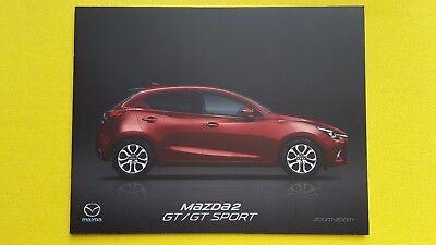 Mazda 2 GT & GT Sport Hatch sales brochure catalogue June 2017 MINT CONDITION