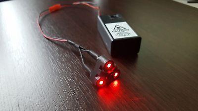 Alien Props For Halloween (Tri-Laser for Predator bio mask #Aliens AVP # Halloween Cosplay 3 red dots)