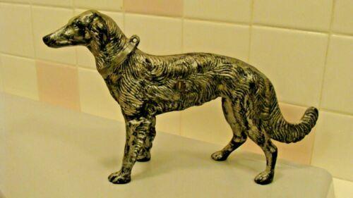 "RARE Cast Iron BORZOI Russian Wolfhound Dog Figurine Doorstop 11.6"" long"