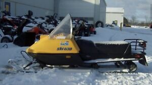 Ice fishing gear and snowmobiles