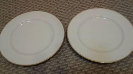 English bone china Alfred Meakin b/b plates 1940s