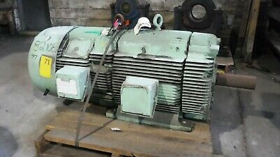 200 Hp General Electric Ac Electric Motor 1800 Rpm Fr 447t Tefcbb 460 V Eok