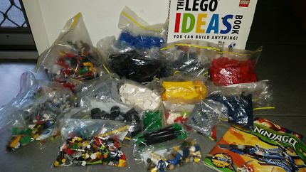 Lego thousands of pieces with idea book