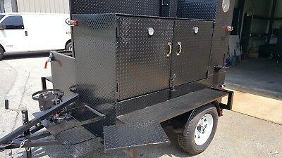 Chicken Flipper Smoke House Bbq Smoker W Side Grill Trailer Food Truck Catering