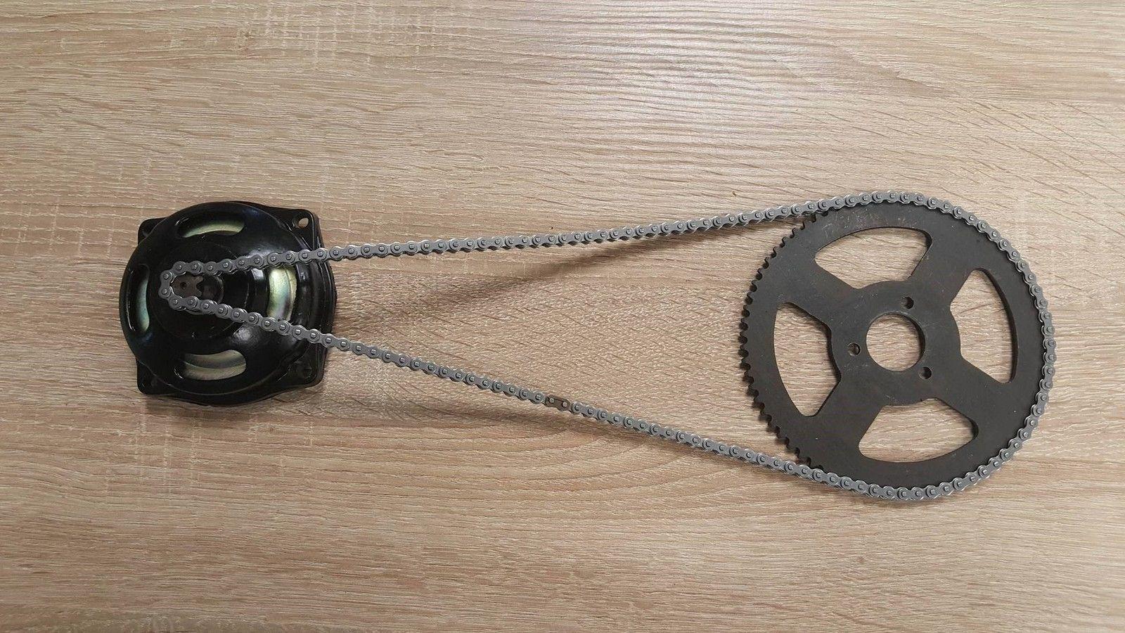 Pocket Bike 6er Kupplungsglocke 72 Zähne 25H Ritzel Kette Set Kettenrad DirtBike