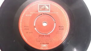 ELTON-JOHN-POPV-8100-RED-rare-SINGLE-7-45-RPM-INDIA-INDIAN-60-VG
