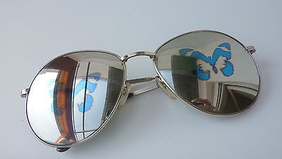 Ladies Pilot Sunglasses Blogger Hipster Mirrored Mirror Glass Size XL