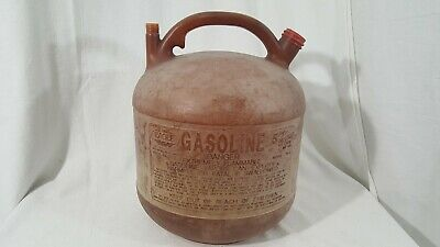 Vintage Eagle 5 Gallon 5 Gal Plastic Vented Gas Can Pg-5 No Spout Or Vent Cap