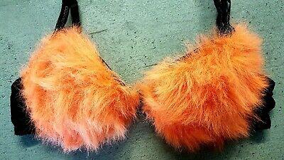 BH Party Karneval Sexy Schwarz Orange  Neon Schwarzlicht Gr. 80B