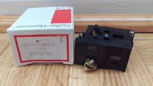 NEW Eaton Yale Cutler Hammer 10250T53 CONTACT BLOCK 1NO 6A SCREW