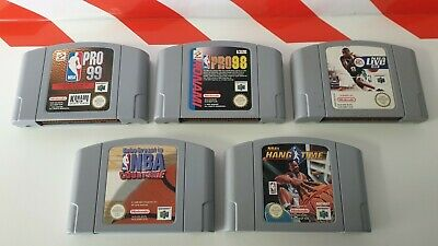 Nintendo N64 NBA Pro 99 & 98 & NBA Live 99 & NBA Courtside & NBA Hang Time