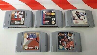Nintendo N64 NBA Pro 99 & 98 & NBA Live 99 & NBA Courtside & NBA Hang Time