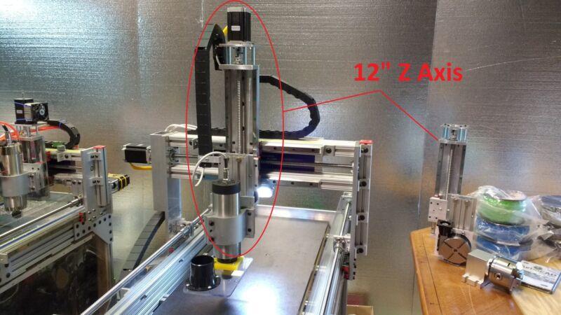 """ROBO-SHOP PRO CNC 12"""" Z 3 4 5 AXIS for CNC ROUTER CNC MILL CNC WORK machine kit"""