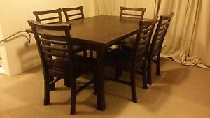 RELOCATION SALE! Solid Dining Table, Buffet Table And Six Chairs Macquarie Park Ryde Area Preview